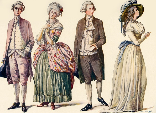 White Background「Costumes During The Reign Of George Iii And First Years Of The Republic 1778-1790」:写真・画像(16)[壁紙.com]
