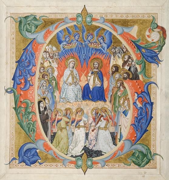 Circa 14th Century「Initial G[Audeamus Omnes] From A Gradual: The Court Of Heaven」:写真・画像(14)[壁紙.com]