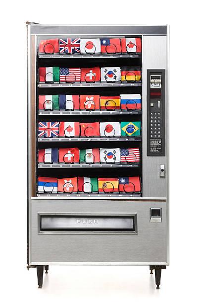international flags in the vending machine:スマホ壁紙(壁紙.com)