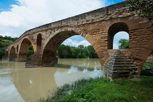 Camino De Santiago「Romanesque bridge over rio Arga, Puente la Reina, Navarra, Spain」:スマホ壁紙(11)