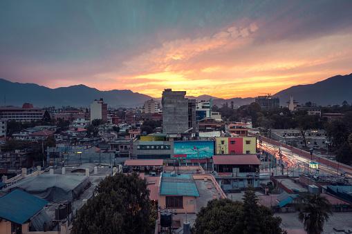 Street Style「Sunset photo of Kathmandu, Nepal」:スマホ壁紙(18)
