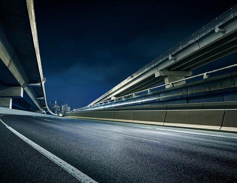 Road Marking「Innercity over pass at Night.」:スマホ壁紙(12)