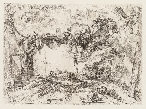 Etching「Groteschi: Ruins With Skulls And A Smoking Vase」:写真・画像(8)[壁紙.com]