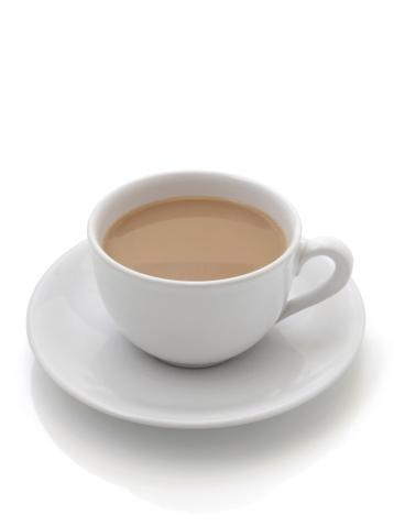 ティーカップ「紅茶白背景」:スマホ壁紙(3)
