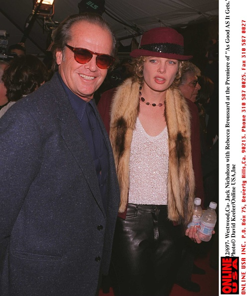 """David Keeler「12/6/97- Westwood,CA-Jack Nicholson with girlfriend Rebecca Broussard at the Premiere of """"As Good As」:写真・画像(8)[壁紙.com]"""