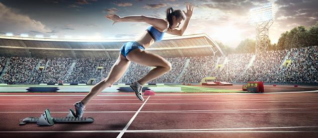 オリンピック「女性アスリート短距離走」:スマホ壁紙(13)