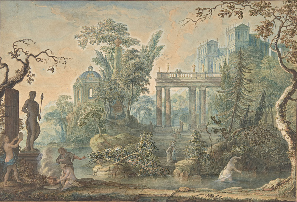 Tree「Arcadian Landscape With Several Figures And A Statue Of Apollo」:写真・画像(10)[壁紙.com]