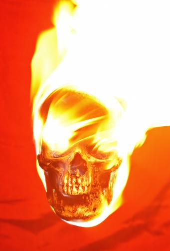 Hell「burning skull」:スマホ壁紙(4)