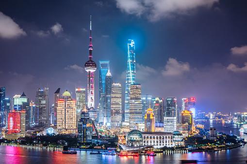 Neon「上海の夜景」:スマホ壁紙(9)