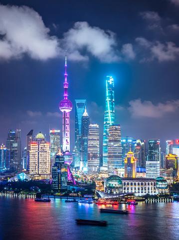 Shanghai「Shanghai Skyline at Night」:スマホ壁紙(16)