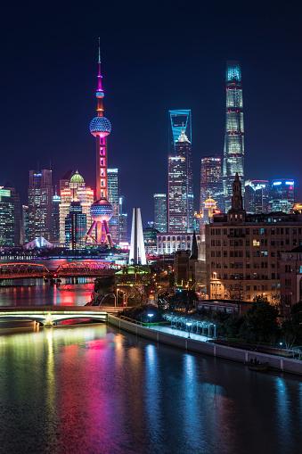 Shanghai「Shanghai Skyline at night」:スマホ壁紙(6)