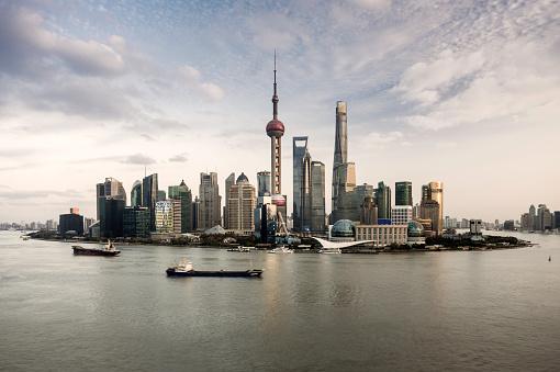 East China「Shanghai skyline and Huangpu river」:スマホ壁紙(19)