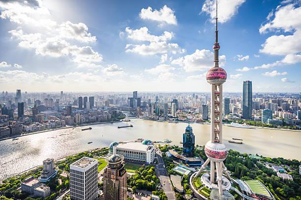 Shanghai Skyline:スマホ壁紙(壁紙.com)