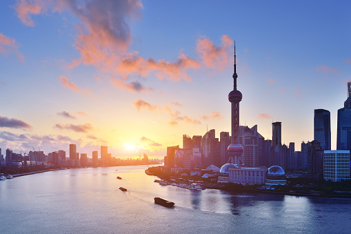 The Bund「Shanghai Skyline at Sunrise」:スマホ壁紙(16)