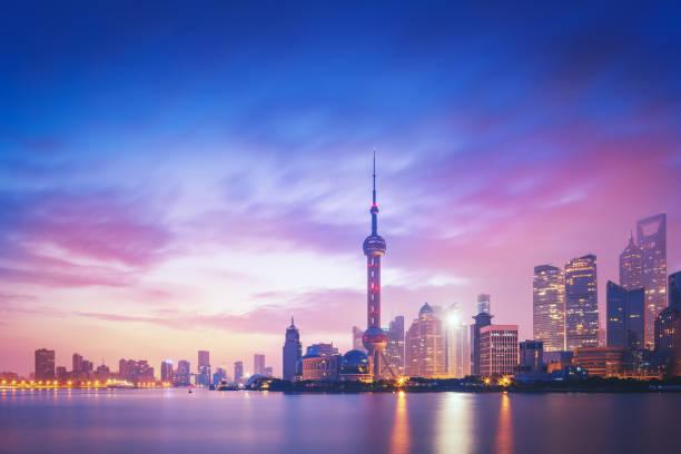 Shanghai Skyline Sunset:スマホ壁紙(壁紙.com)