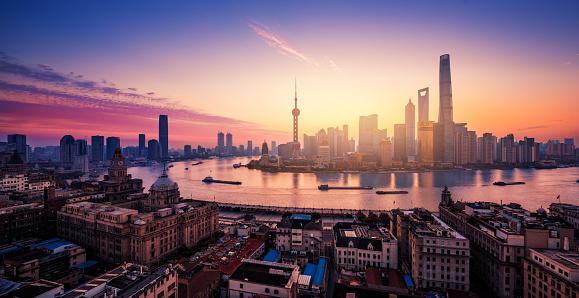 Shanghai「Shanghai Skyline Sunset」:スマホ壁紙(19)