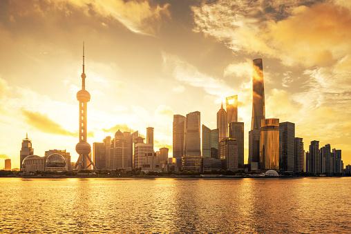 Shanghai「Shanghai Skyline Sunset」:スマホ壁紙(17)