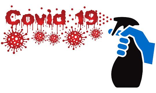 Cartoon「Antivirus for covid 19」:スマホ壁紙(2)