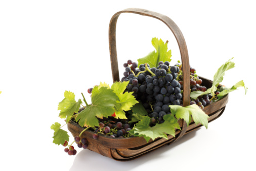 Grape「Bunch of grapes in basket, elevated view」:スマホ壁紙(16)