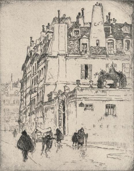 Etching「'Old houses, Rue de Vaugirard', 1915」:写真・画像(10)[壁紙.com]