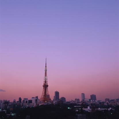 Minato Ward「View of Tokyo, sunset」:スマホ壁紙(3)