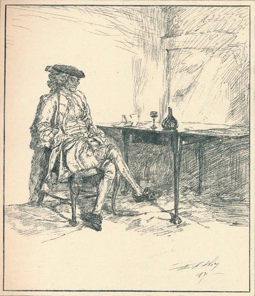 座る「The Letter Unpublished Pen Drawing 1890 1923」:写真・画像(17)[壁紙.com]