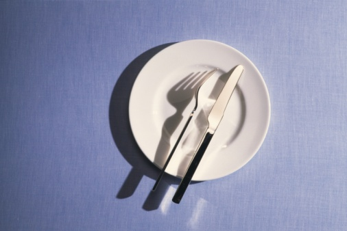 The Knife「Folk and Knife on the Plate, High Angle View, Copy Space」:スマホ壁紙(18)