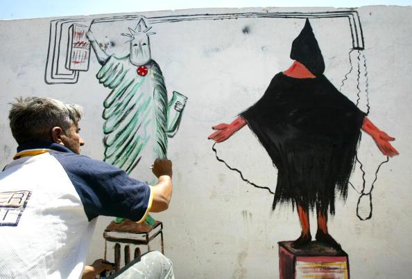 Abu Ghraib Prison「Wall Paint Of Prisoners Abuse In Thawrah Neighborhood Of Baghdad」:写真・画像(2)[壁紙.com]