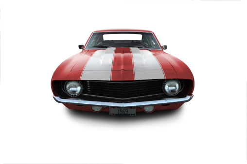 Hot Rod Car「Red 1969 Camaro Muscle Car」:スマホ壁紙(5)