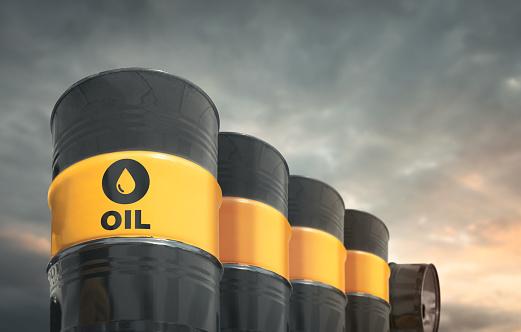Oil Industry「Crude oil barrels in a row」:スマホ壁紙(6)