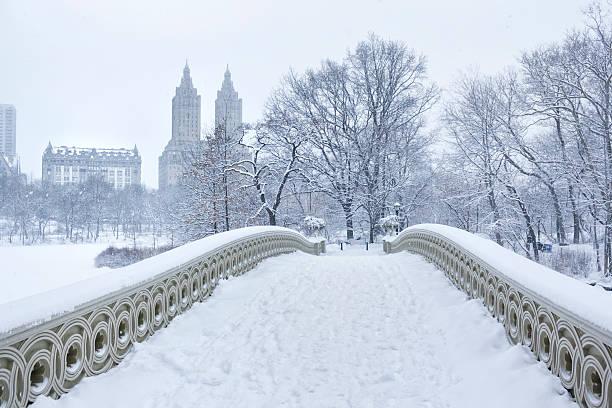Bow Bridge with West Side Winter:スマホ壁紙(壁紙.com)