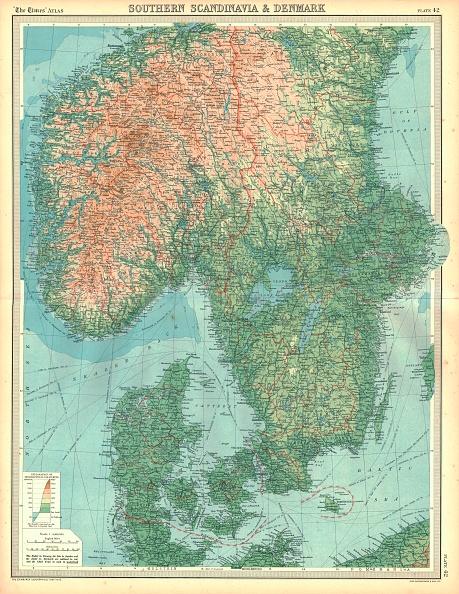 Scandinavia「Map Of Southern Scandinavia And Denmark Artist Unknown」:写真・画像(3)[壁紙.com]
