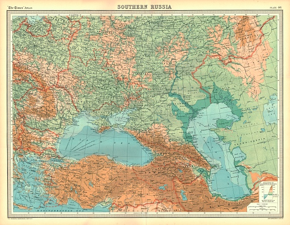 Bulgaria「Map Of Southern Russia Artist Unknown」:写真・画像(17)[壁紙.com]
