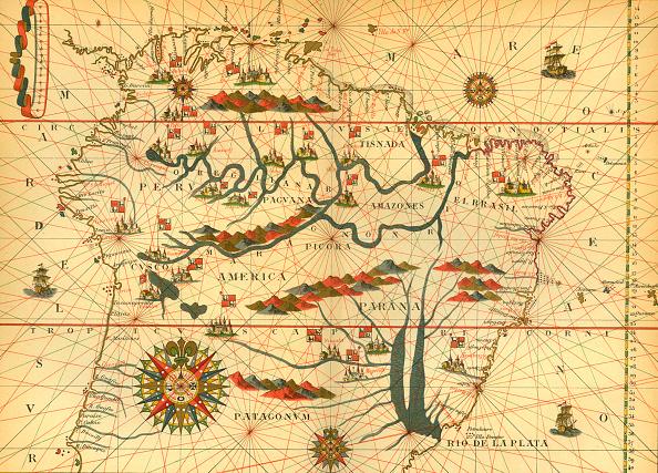 16世紀のスタイル「Map of South America」:写真・画像(18)[壁紙.com]