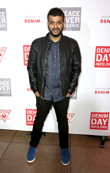 Leather Jacket「GUESS Foundation And Peace Over Violence Denim Day Cocktail Event At MOCA」:写真・画像(19)[壁紙.com]