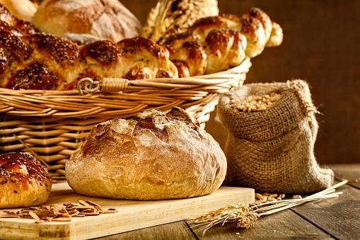 Bun - Bread「Artisanal bakery:  Fresh mixed Bun, rolls and Sourdough Bread」:スマホ壁紙(1)