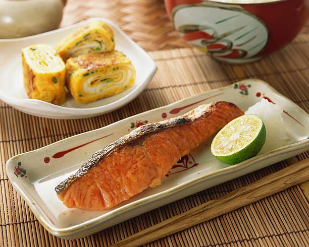 Grilled Salmon:スマホ壁紙(壁紙.com)