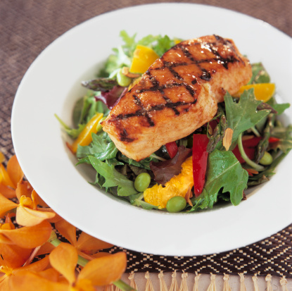 Ginger - Spice「Grilled Salmon salad with Chili Ginger dressing」:スマホ壁紙(10)
