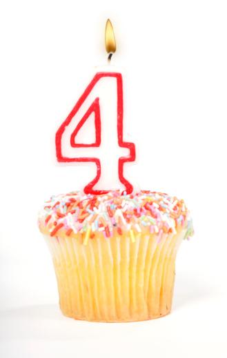 Number 4「Cupcake Number Candle」:スマホ壁紙(5)