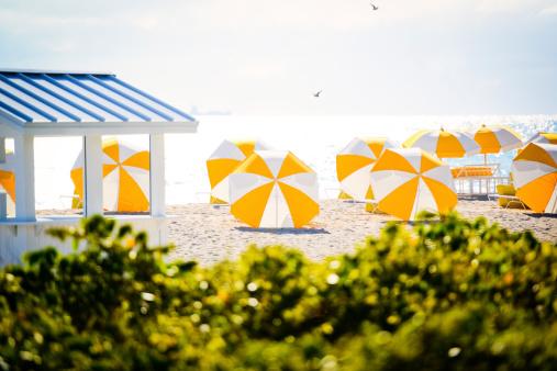 Miami Beach「穏やかな空のビーチで早朝」:スマホ壁紙(7)