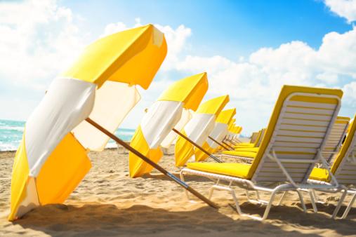 Miami Beach「穏やかな空のビーチで早朝」:スマホ壁紙(8)