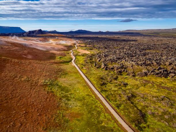 Leirhnukur Hot Spring Area, Krafla Lava Fields, Northern Iceland:スマホ壁紙(壁紙.com)