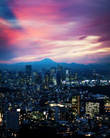 富士山「東京の夜」:スマホ壁紙(5)