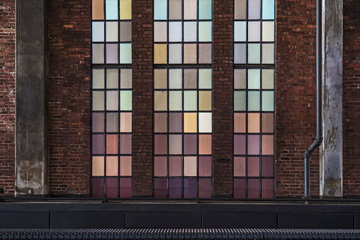 Meatpacking District「Colored glas panes in passage, Manhattan」:スマホ壁紙(17)