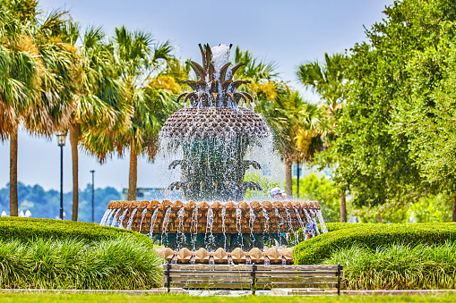 Charleston - South Carolina「Pineapple Fountain in Charleston,South Carolina」:スマホ壁紙(12)