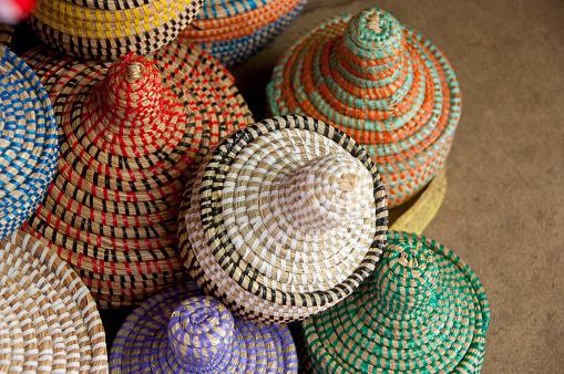 Souvenir「Colorful hand made baskets at Albert Market and Banjul Craft Market, Banjul, Gambia」:スマホ壁紙(8)