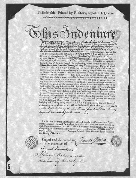 Philadelphia - Pennsylvania「Certificate Of Indenture」:写真・画像(10)[壁紙.com]