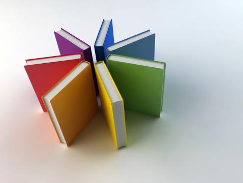 Textbook「Rainbow circle from books」:スマホ壁紙(18)
