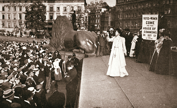 Social Issues「Christabel Pankhurst British Suffragette Addressing A Crowd In Trafalgar Square London 1908」:写真・画像(4)[壁紙.com]