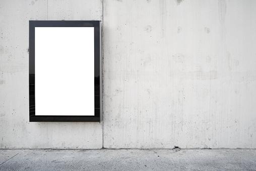 Wide Angle「a blank billboard on a wall.」:スマホ壁紙(17)